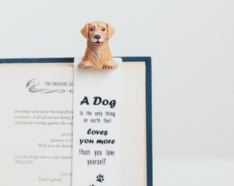 Golden Retriever bookmark, Dog mom gift, Dog lover gift, Cute Pet bookmark, Akita Inu lover Gift, Labrador Gifts, Book accessory