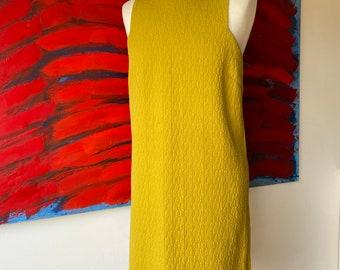 Retro Vintage Mustard Yellow mini dress size M-L