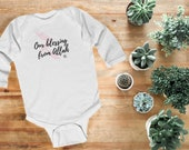 Our Blessing from Allah Girls Long Sleeved Baby Grow - Newborn to 18 months - white and grey - Muslim Baby | Islamic Gift