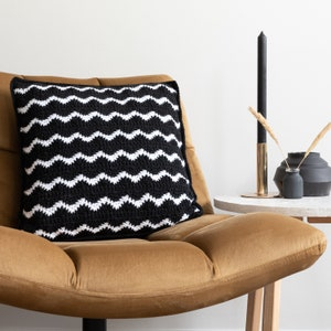 Crochet Cushion Pattern PDF Waves Cushion Yarn and Colors