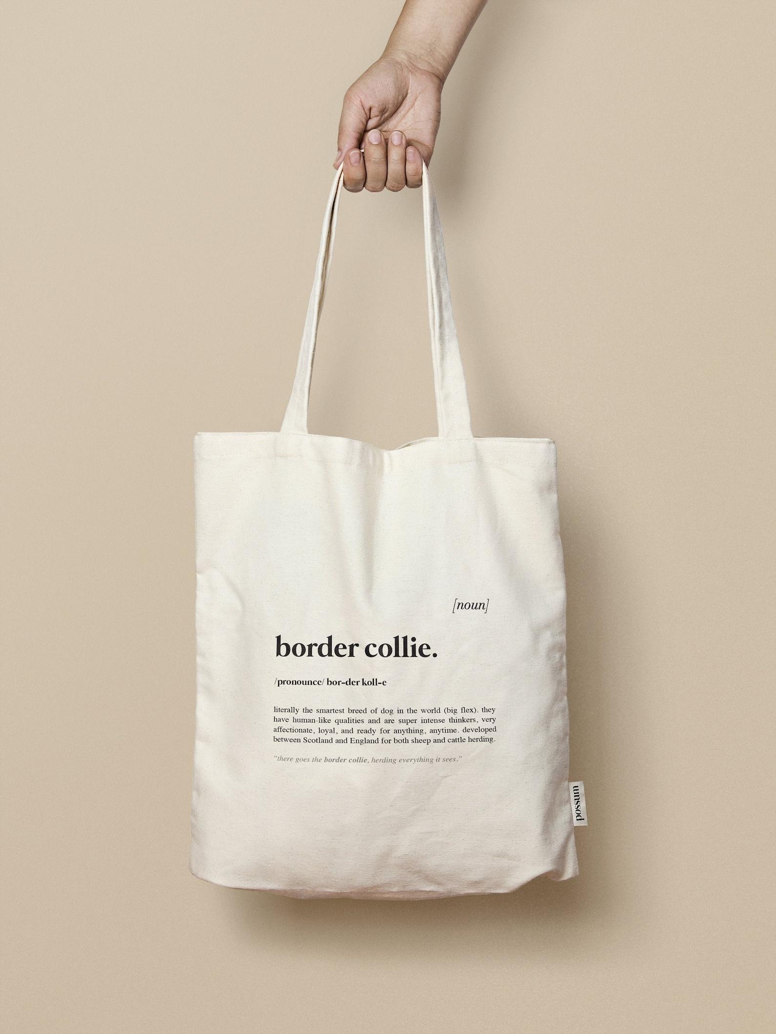 Border Collie Tote Bag
