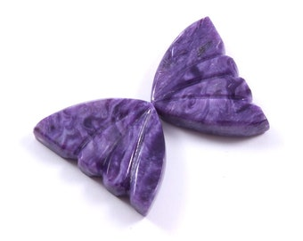 38mm hand-carved. Charoite Russian bear is made of natural Charoite stone 65mm *27mm