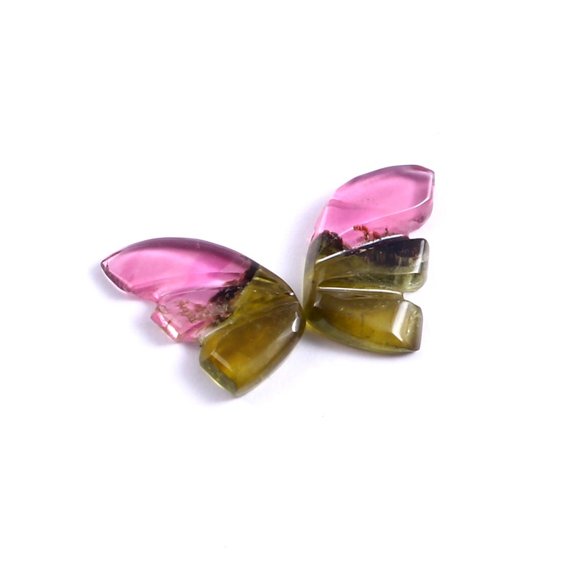 Size 9x5mm 1.60 Carat Natural Bio Tourmaline Butterfly Hand Carved loose Gemstone