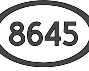 American Vinyl White Oval 8645 Sticker Anti Trump Stop Impeach Resist Bumper