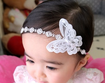 Small Photoshoot Prop Baptism Hair Band Newborn Jewel Crown SILVER RHINESTONE Baby Headband Dainty Girl Metal Head Band Mini Tiara