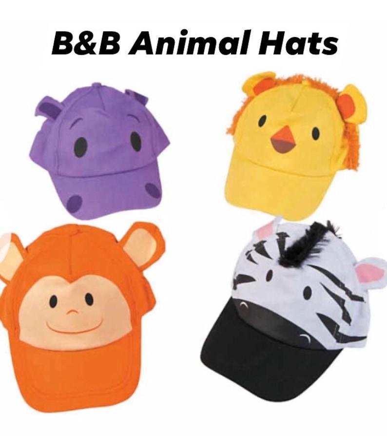 B & B Day At the Zoo Animal Hats image 0