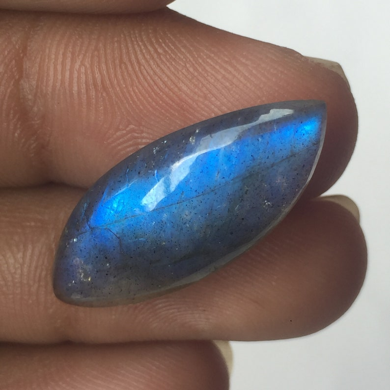 Item Full Blue Fire Labradorite Cabochon Gemstone Marques Shape Handmade Wholesale Loose Gemstone Both Side Polish Size-29x12x5 MM