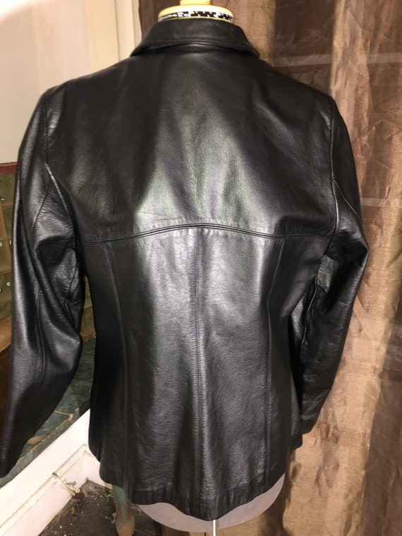 Vintage Wilson's Leather Black Jacket XL