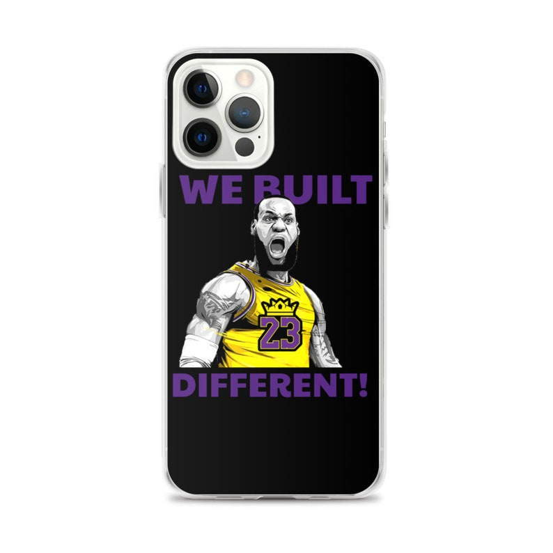 Los Angeles Lebron We Built Different Lakers iPhone Case image 0