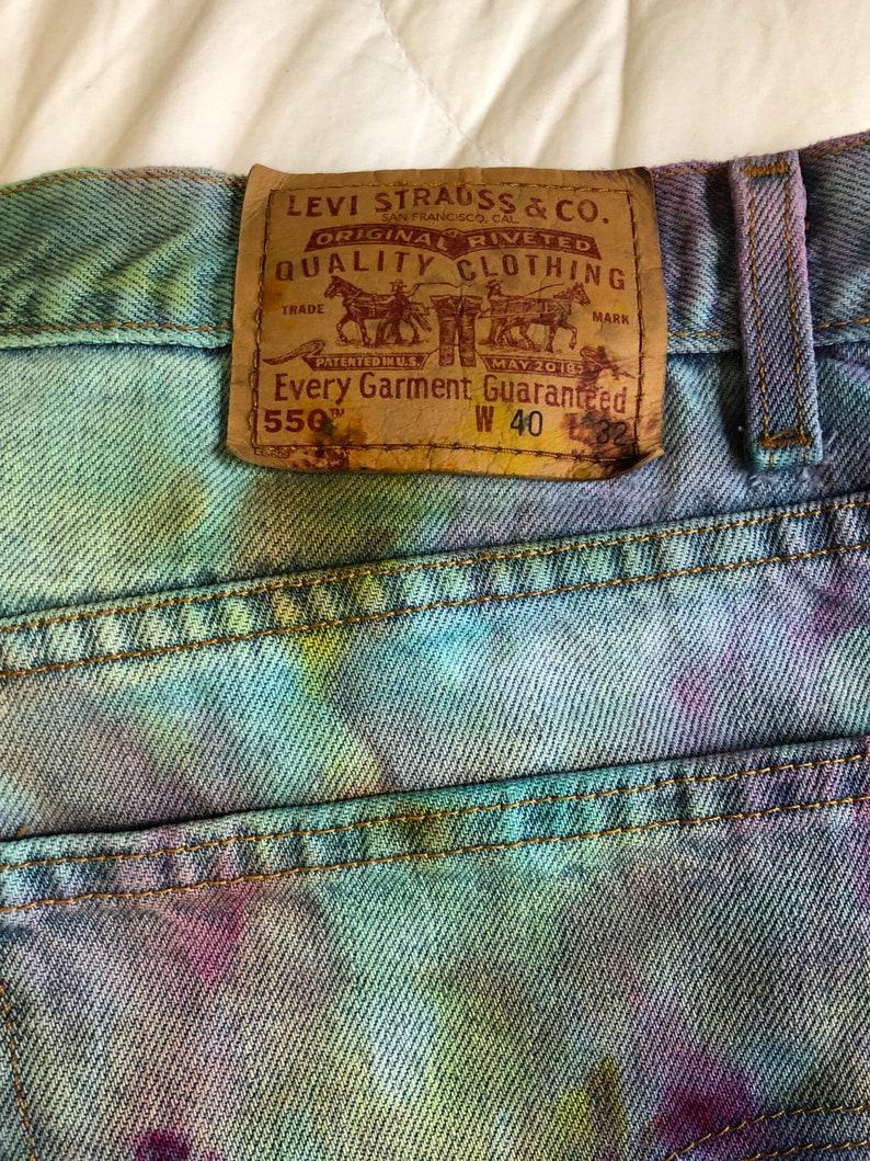 Ice Dyed Levi\u2019s 550s