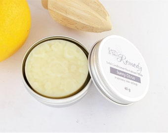 Oily to normal hair solid conditioner, Sunny Citrus solid conditioner, Zero waste hair conditioner, for blonde and light hair, plastic free