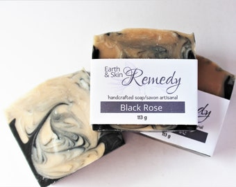 Black Rose Soap, natural handcrafted  bar,  gentle non irritating soap, chemical- fragrance-palm free soap for dry skin,  moisturizing soap