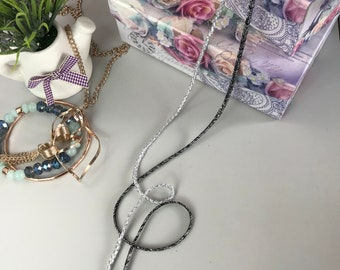 Destash Lot Of Salvaged Ribbon /& Rope Necklaces TLC