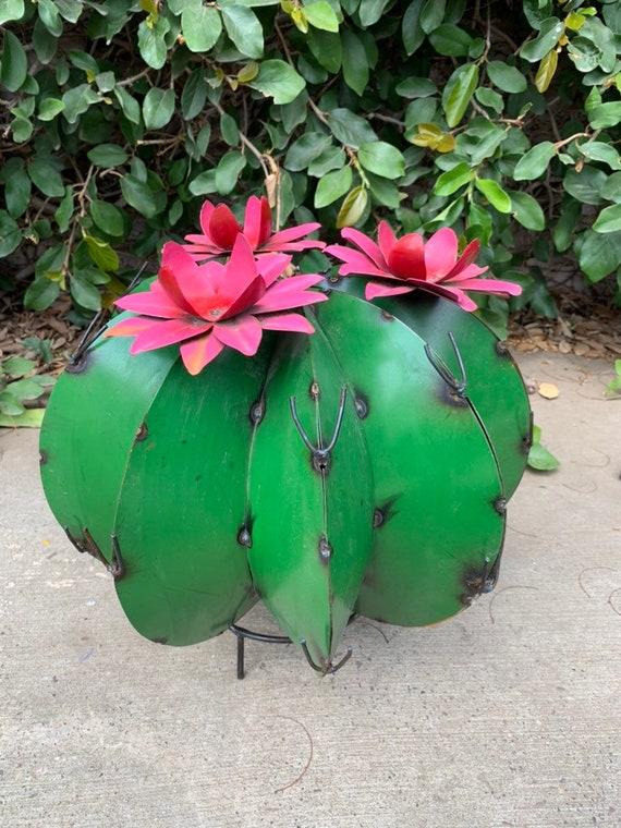 Handmade Metal Bisnaga Cactus, Metal Decor, Garden Decor, Metal Art Hand Made