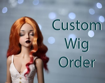 Beautiful angora mohair bjd wig/Minifee wig/Size 5-6, 6-7, 7-8, 8-9/Natural doll wig/Custom bjd wig