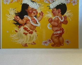 5 VtG HAWAiiAN ISLANDS TiKi BAR ART LAMiNATED PLACEMATS HAWAii OAHU MAUi KAUAi