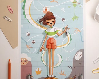 Illustration - Street Artist - Poster, Print A4 format