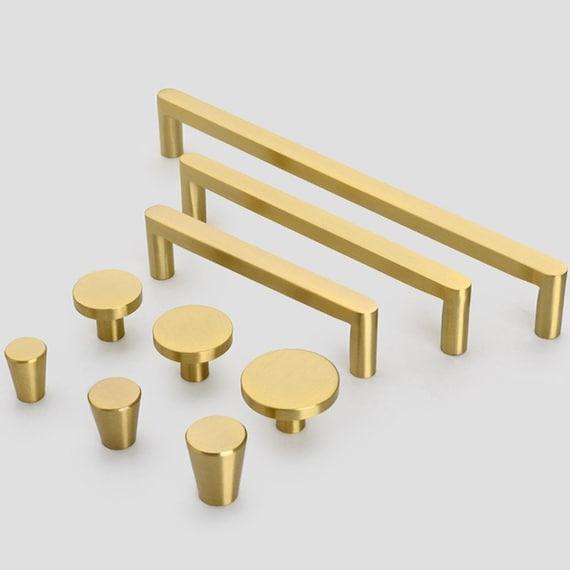 Modern Solid Brass Kitchen Cabinet, Brass Kitchen Cabinet Pulls