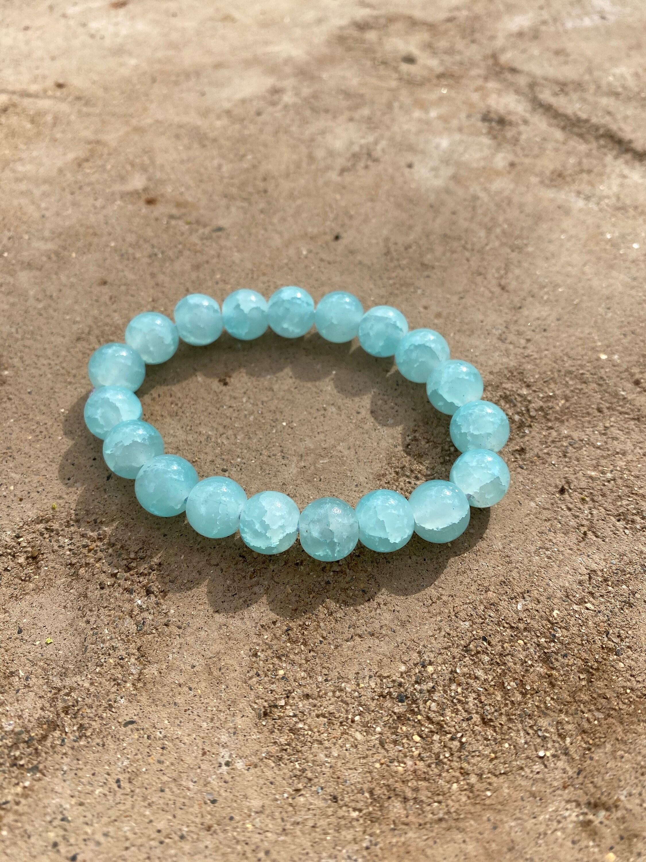 boho bracelet blue boho bracelet aquamarine Bracelet aquamarine bracelet blue aquamarine bracelet