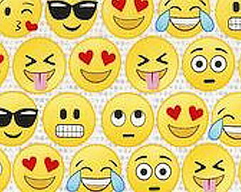 "Timeless Treasures Best Selling Emoji 100% Cotton 44/45"" fun-c5500"