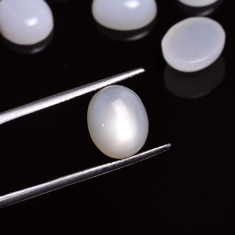 Natural White Moonstone Cabochon Oval Shape Moonstone AAA+ Quality For Jewelry Making Moonstone Calibrated Size 11X9 mm Loose Gemstone