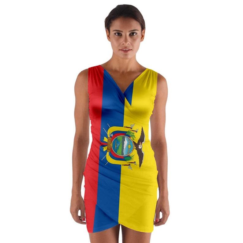 Unique Ecuador Flag Wrap  Bodycon Dress
