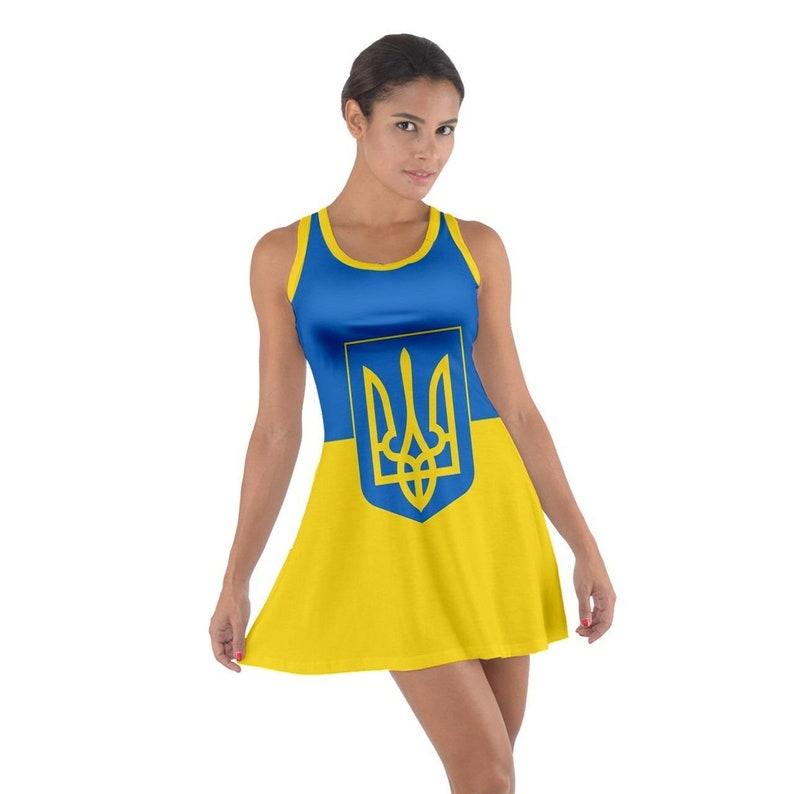 Ukraine Sleeveless Racerback Dress