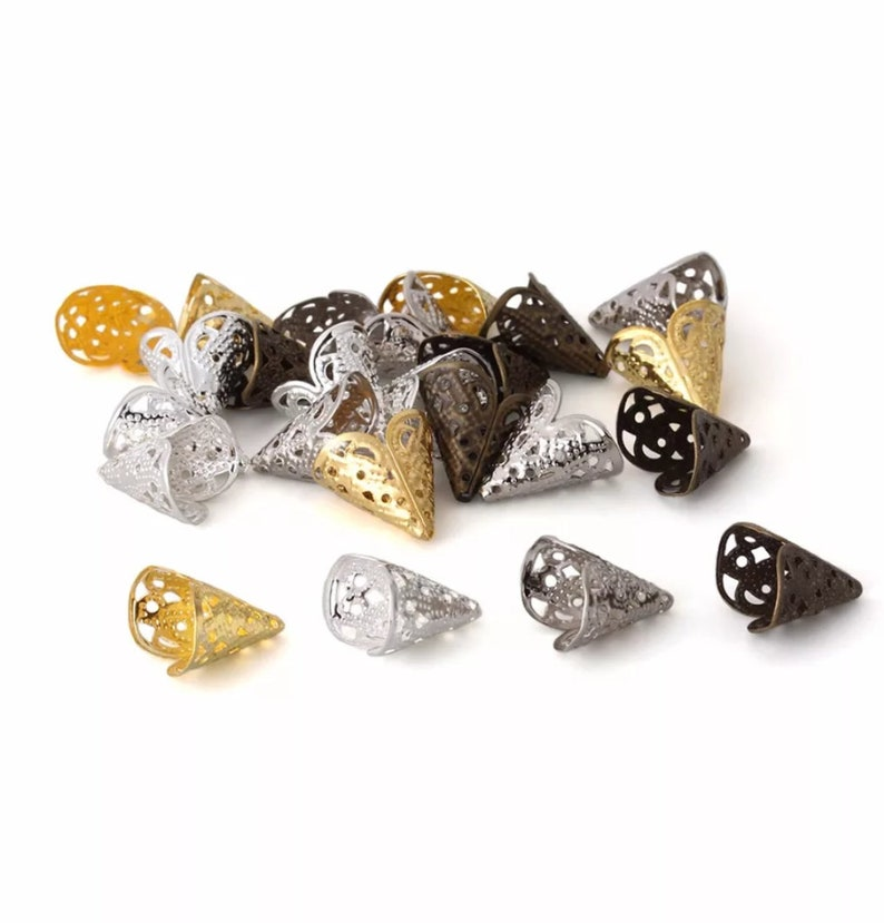 Flower Hollow Metal Bead Caps Beads Jewelry Gift Bead Caps. DIY Jewelry Making Beads Caps 250pcslot Bead Caps