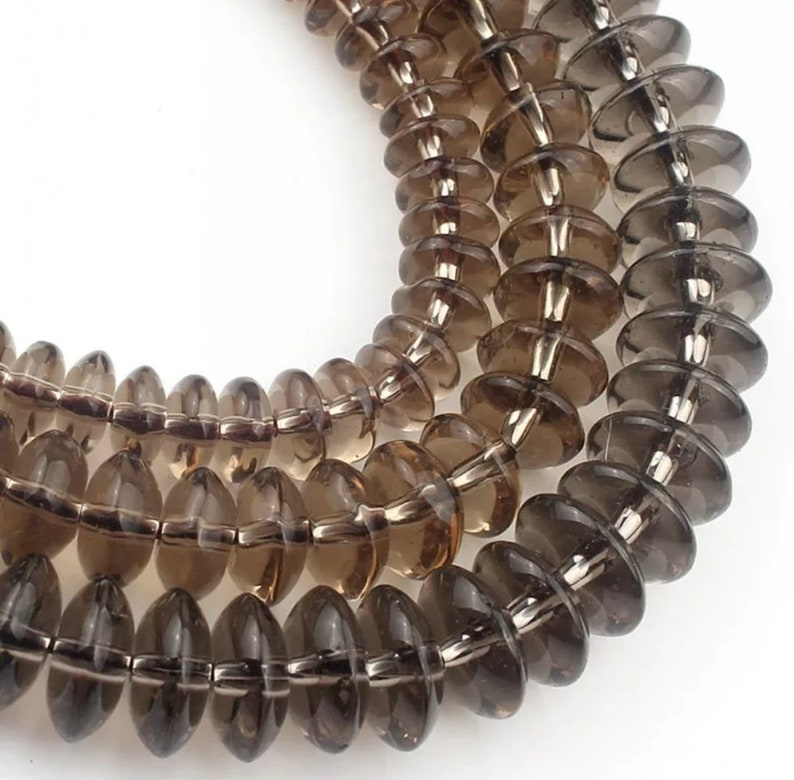 Smoky Quartzs Crystal Glass Beads Needle Work Smooth Beads Grade AAA+4681012mm Jewelry Making Bracelet Beads