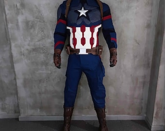 Captain America Costume Etsy Marvel studios' captain marvel stars brie larson and is directed by the writing/directing team of anna boden and ryan fleck. captain america costume etsy