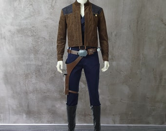 Solo A Star Wars Story Han Solo Costume Cosplay Suit for Adult Outfit