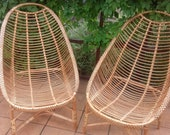 Mid-century Chair modern Wicker Rattan Sunroom Patio Lounge Balcony Arm Chair rattan Furniture Lounge boho Armchair pool area beach chair