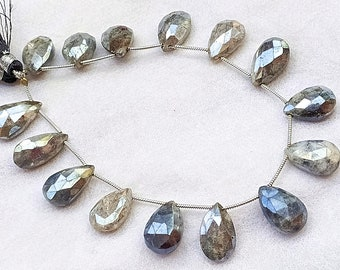 Good Quality Mystic Labradorite Faceted Hexagon Briolettes 15 pcs 11-14 mm approx