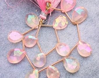 BL3322S 1 Strand Rose Quartz Faceted Nuggets Briolette Nugget Beads 19x20-22x27 mm Rose Quartz Faceted Tumble 7