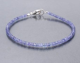 Gemstone Bracelet,Genuine Tanzanite,Gift For Her Tanzanite Sterling Silver Bracelet Tanzanite Jewellery Tanzanite Bracelet TGW 12.25 CTS