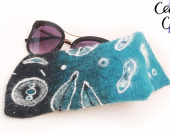 Nautical Lighthouse Whale White Glasses Case Women Men Eyeglasses Bag Pencil Case Pouch