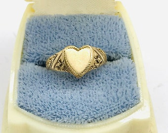14K Solid Gold Delicate Art Nouveau Ring With Square Rhodonite