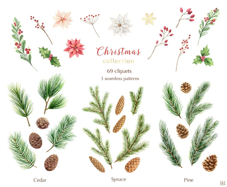 Watercolor Christmas clearance. Winter clipart PNG. Christmas image 0
