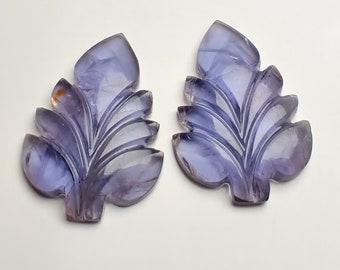 Iolite Carving Fancy 16 /'/' Natural Gemstone  1 Strand 119.55 Ct Handmade EBA000063 Crystal