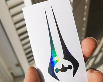 Halo Energy Sword Gun Metal Holographic Decal Sticker Vinyl