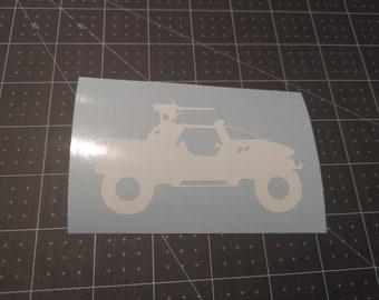 Halo Warthog Decal Sticker Vinyl