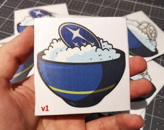 Rice Bowl JDM Car Decal Sticker Vinyl