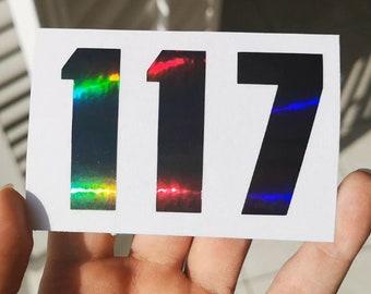 Halo 117 Gun Metal Holographic Decal Sticker Vinyl