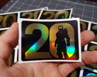 Halo 20th Anniversary Holographic Decal Sticker Vinyl