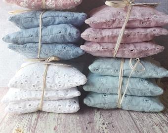 Organic lavender sachet in France, perfumed linen sachet, organic lavender pillow, home fragrances, set of 3 organic lavender sachets
