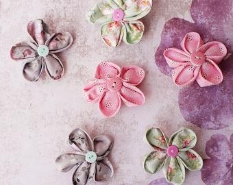 Fabric Brooch, Handmade Fabric Flower Brooch, Fabric Flower Brooch, Hat Bag Garment Accessories, Flower Clips, Decorative Flower