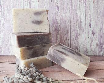 Lavender handmade soap, natural France soap, exfoliating soap, organic handmade soap, lavender gift soap, bar soap, cold soap