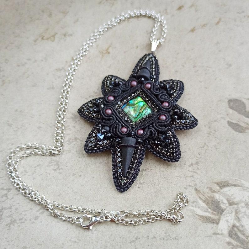 Collier pendentif étoile noire argent Étoile gothique pendre | Etsy