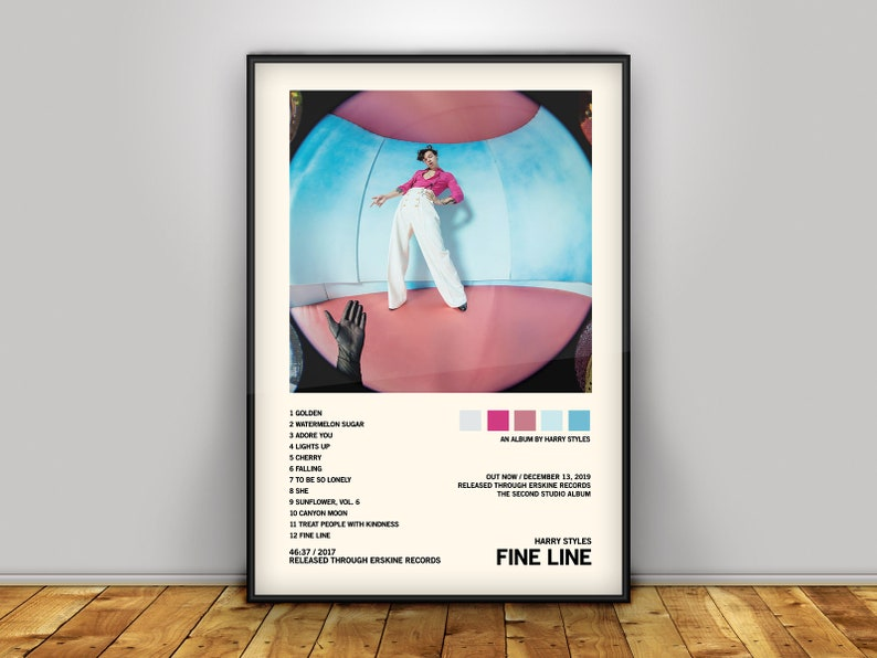 Harry Styles Fine Line Album Cover Poster Poster Print Etsy
