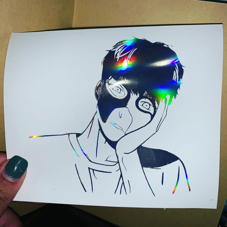 holographic character vinyl
